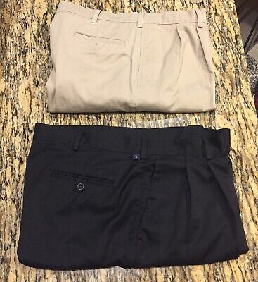Men's Dockers and Savane Pants - Lot of Two Pairs 38x32 - Pleated With Cuff ()