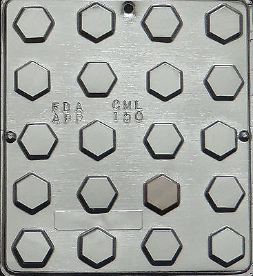 (Hexagon Piece Chocolate Candy Mold Candy Making 150 NEW)