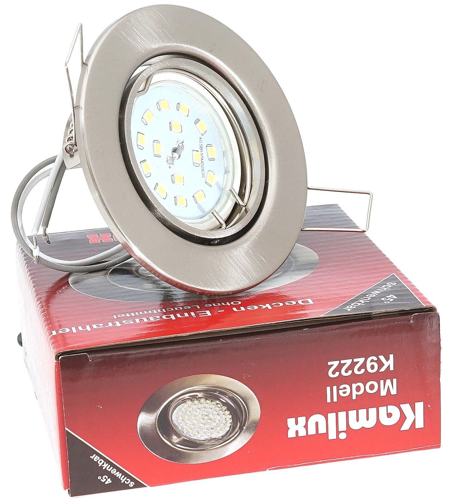 LED Einbaustrahler Einbau Leuchten Lampe Ultra Flach Decken Spots TOM 5W  230V