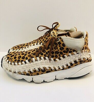 Nike Air Footscape Woven Chukka PRM LEOPARD CHEETAH 446337-200 sz 11 AUTHENTIC