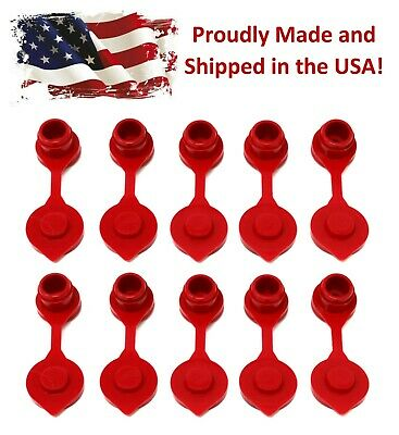 10 Red Fuel Gas Can Jug Vent Cap Blitz Wedco Scepter Essence Midwest Eagle