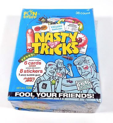 1990 Confex Nasty Tricks Sports Trading Card Box (36 Packs)