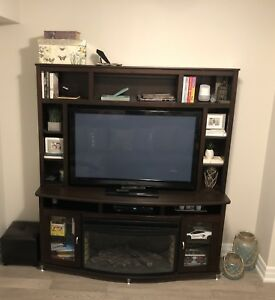 Tv stand / wall unit with fireplace