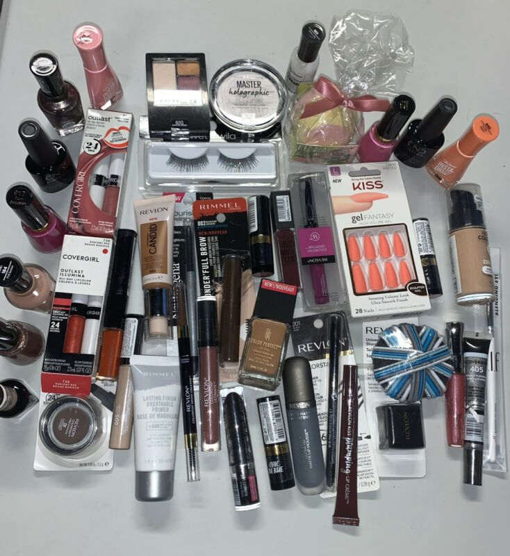 Wholesale Cosmetics Makeup Lot-50+pc Maybelline Revlon Almay Cover Girl And More