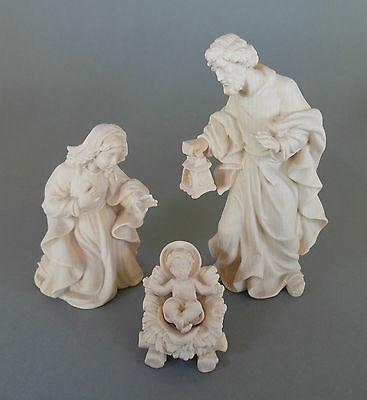 Heilige Familie für Krippenfiguren Größe 9 cm 4-teilig Holz geschnitzt natur AM