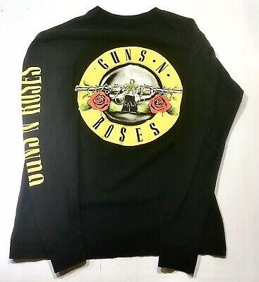 Guns N' Roses Long Sleeve Logo Shirt Black Size Medium