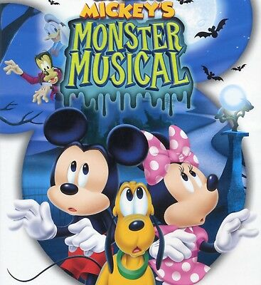 Mickey Mouse Halloween Movies (Mickey Mouse Clubhouse: Mickeys Monster Musical, new DVD, Halloween mouse)