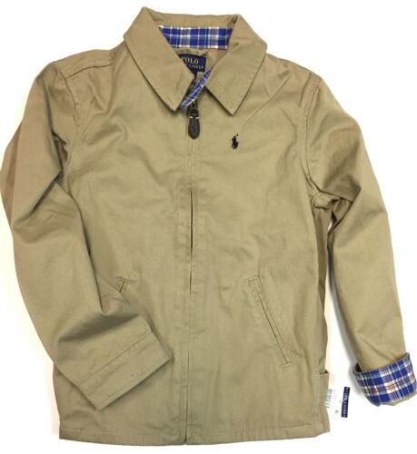 POLO RALPH LAUREN Boys Jacket Kids Twill Coat Size 2 2T Beige