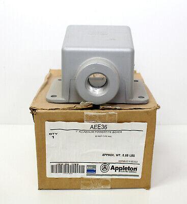 Appleton 1 Aluminum Powertite Box Aee36  New  60 Amp Type Aee