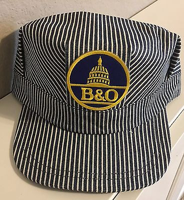 Adult Conductor Hat (Engineer/Conductor Cap /Hat-B&O Baltimore & Ohio- adjustable-Adult or Child-NEW)