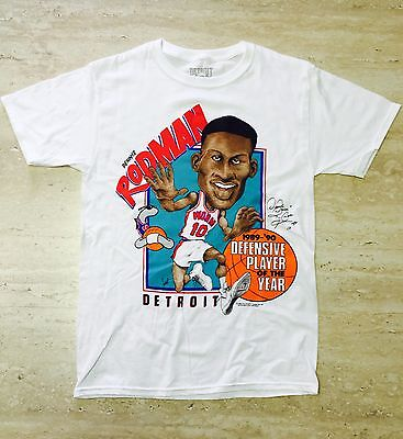 Authentic Detroit Pistons Bad Boys Dennis Rodman Character T-shirt