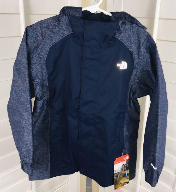New The North Face B Resolve Reflective DryVent Jacket, Cosmic Blue, Boys Sz XS