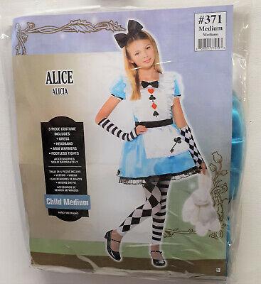 Mädchen Kostüm Alice Wunderwelt Wunderland Karneval  110 (Alice Mädchen Kostüm)