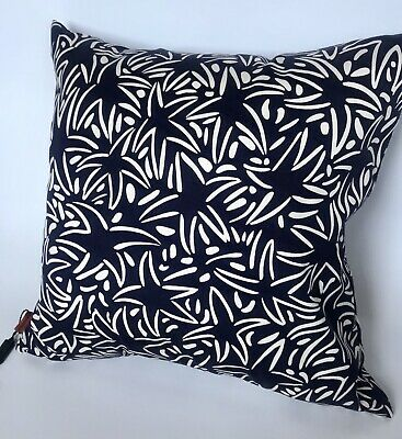 Missoni Star Starfish Navy Blue Duck Feather Insert Throw Pillow 16