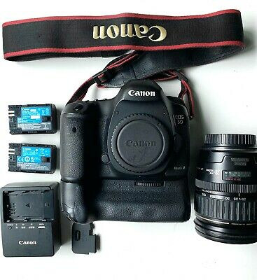 CANON 5D MARK III W/BATTERY GRIP + 28-135MM ULTRASONIC LENS