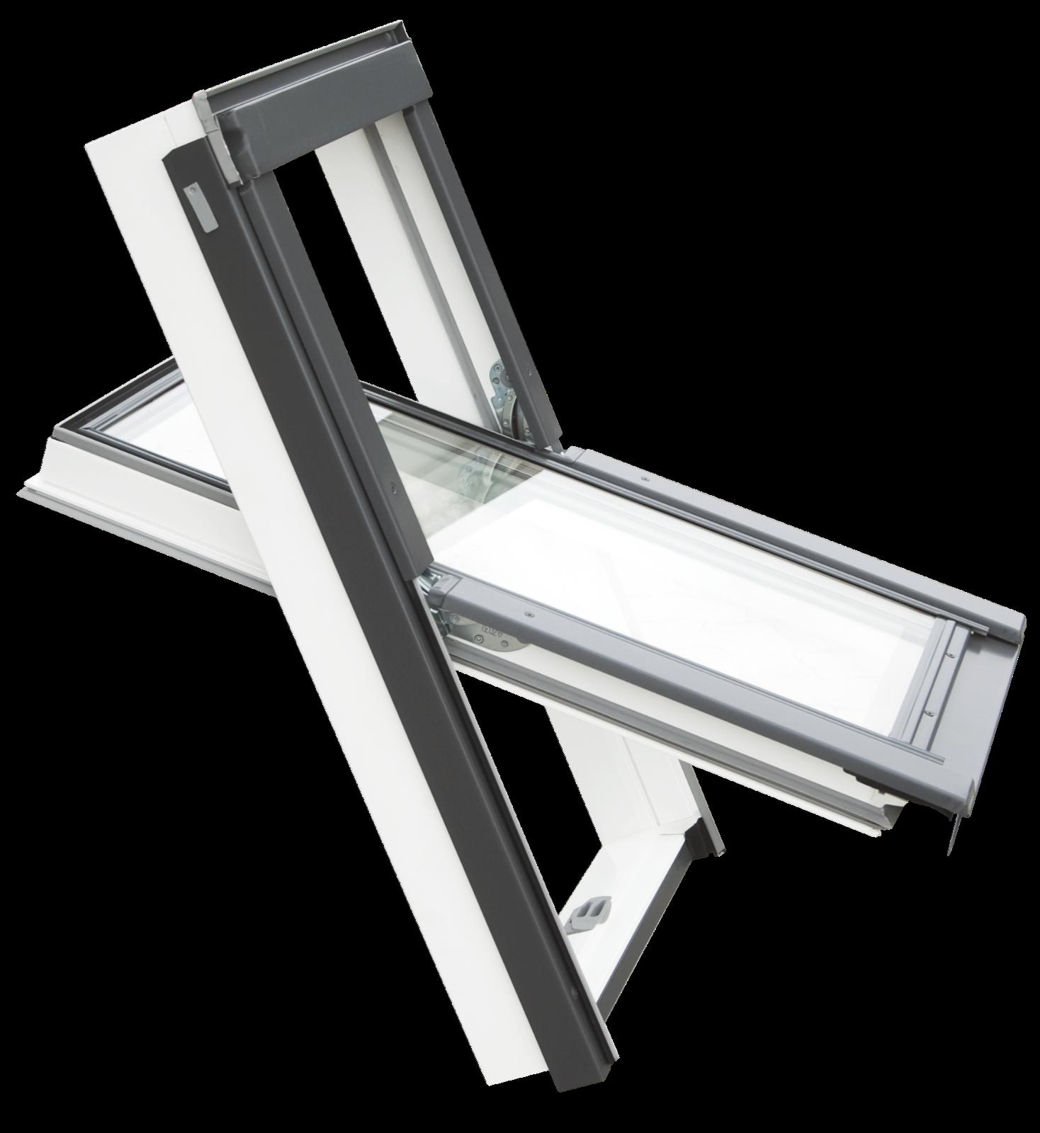 BALIO Dachfenster APB aus Kunststoff incl. Universal-Eindeckrahmen 0-50mm