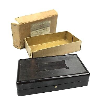 W & J George Becker LTD Bakelite Boxed Brass Apothecary / Scientific Scale Set
