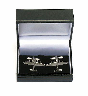 Lancaster Cufflinks - Lancaster Bomber Pewter Cufflinks Ideal Mens RAF Plane Pilot Gift Boxed