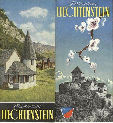 VINTAGE TRAVEL BROCHURE~FURSTENTUM LIECHTENSTEIN