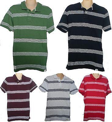 Mens AEROPOSTALE Thin Stripe Jersey Polo Shirt NWT #4562