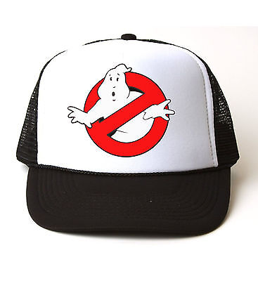 GHOSTBUSTERS HAT Halloween Costume Mesh Trucker Cap Adjustable Funny 80s Group  - Funny Group Costumes