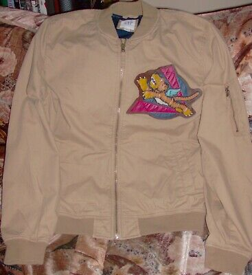 SALE!!! SAVE 20% WWII KHAKI BOMBER JACKET WITH FLYING TIGERS PATCH, SIZE MENS L