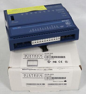 Distech Ecb-203 Bacnet Programmable Controller Cdib-203x-00 6ui-5do-3uo New