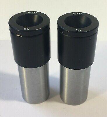 Pair Pzo 5x Eyepiece Microscope D23 Mm Zeiss Lomo