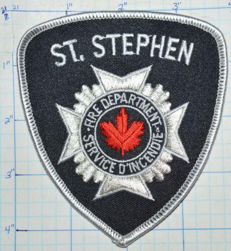CANADA, ST. STEPHEN FIRE DEPT SERVICE D