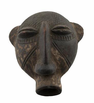 Masquette Hut Votive Kran Terracotta Diminutive Fetish Art African 764