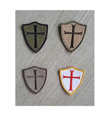 SOG Morale NYLON Patch - Crusader Cross Shield - See Menu for color - Sog Cross