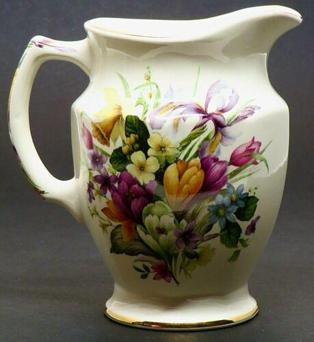 "Windsor White & Floral Porcelain 5"" Pitcher Made in England (Mint!)"