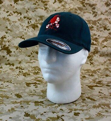 NSWDG Red Squadron Flexfit Brand Baseball Cap L-XL DEVGRU Red Team Ball Cap