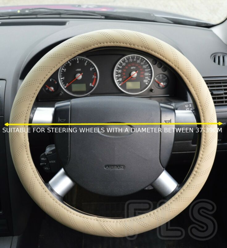 LEXUS FAUX LEATHER BEIGE STEERING WHEEL COVER