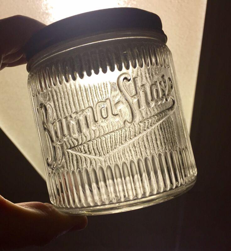 Vintage Burma Shave Jar With Original Top 1lb Size