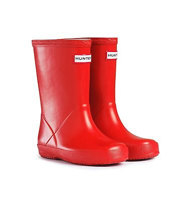 Hunter Wellington Boots Welly Wellies Kids First Red Size 6