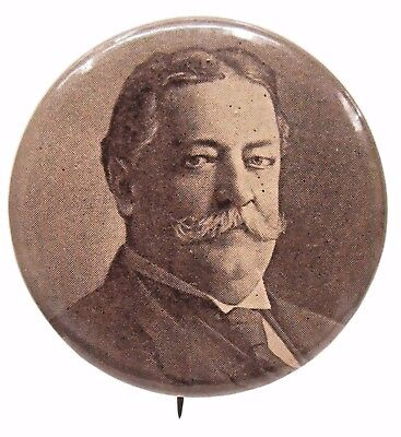 """TAFT looking to the side Portrait president 1.25"""" pinback button w/back paper +"""