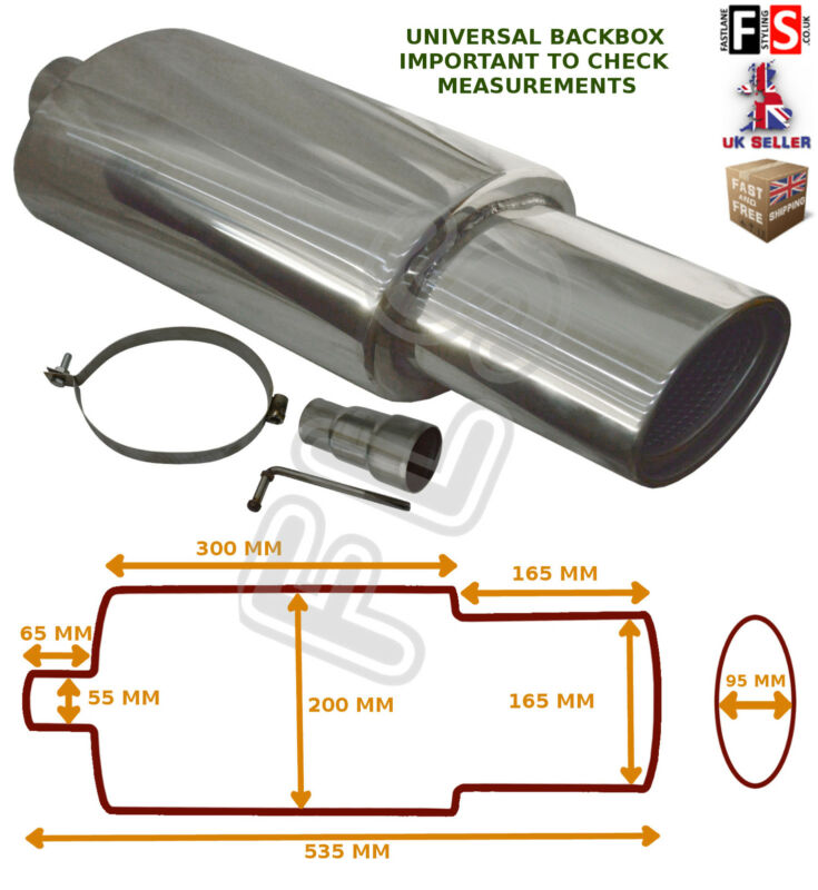 UNIVERSAL STAINLESS STEEL PERFORMANCE EXHAUST BACKBOX - BK15071 – Lexus