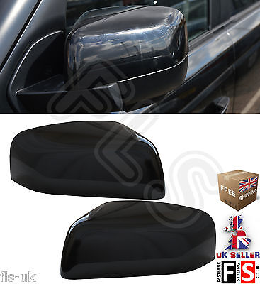 RANGE ROVER SPORT REPLACEMENT SIDE WING MIRROR COVERS 2010   2013   GLOSS BLACK