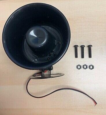 Mini Siren Security Alarm Speaker Horn Black 15w 12v 110db Hs-4b