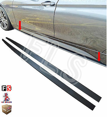 BMW 5 SERIES E60 E61 SIDE SKIRT EXTENSION BLADES KIT M PERFORMANCE