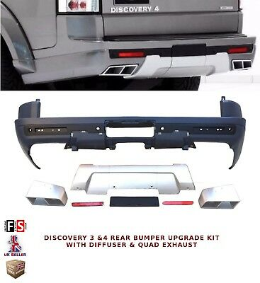 LAND ROVER DISCOVERY 3 & 4 UPGRADE REAR BUMPER KIT WITH DIFFUSER & QUAD EXHAUST