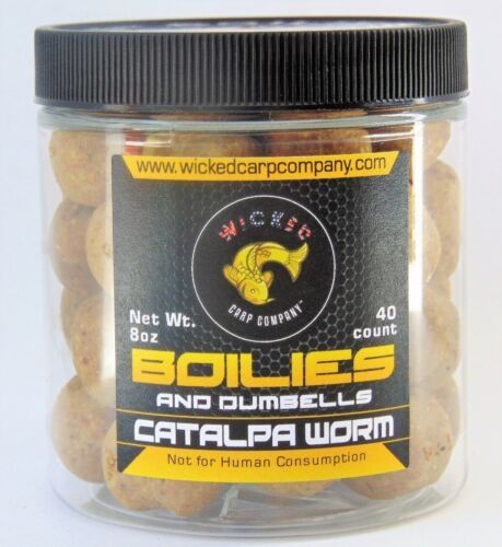 Carp and Catfish Bait Boilies and Dumbells Catalpa Worm