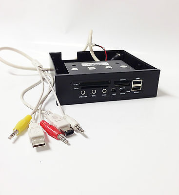 Sansun 5,25  MultiFunction Front Panel -CardReader USB Port 1394 Port Audio Port