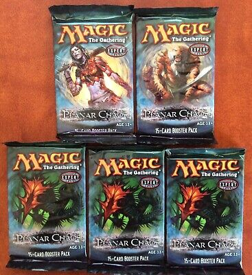 Magic the Gathering LOT of 5 PLANAR CHAOS Factory Sealed Booster Packs - English