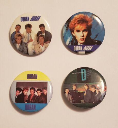 Set of 4 1984 Duran Duran Metal Buttons Music Rock