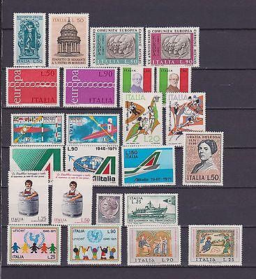 s16978) ITALIA MNH** 1971 Complete Year set 24v Annata Completa (NO L. 100 PA)