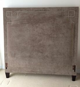 Grey Fabric Headboard