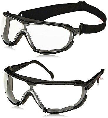 Radians Dagger Clear/Anti Fog Lens Hybrid Safety Glasses Foam Padded Goggles