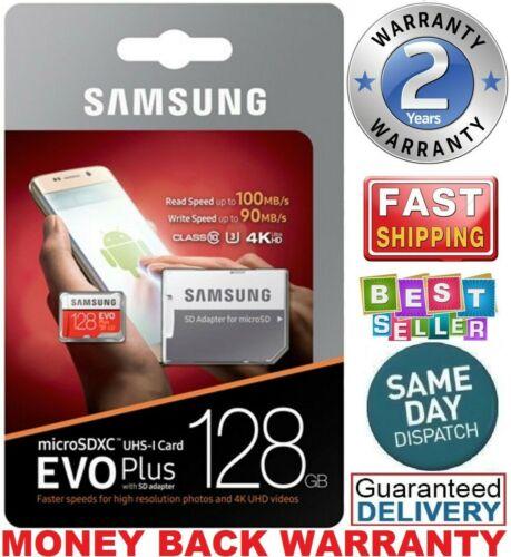 Samsung 128GB Micro SD Card EVO Plus Class 10 UHS-I MicroSDXC U3 With Adapter